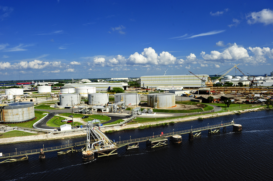 The industrial side of the port of tampa Florida