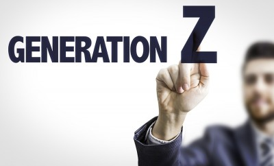 Business man pointing the text: Generation Z