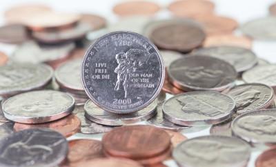 New Hampshire State Quarter Close Up
